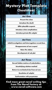 Genre story templates for Mystery novel outline template
