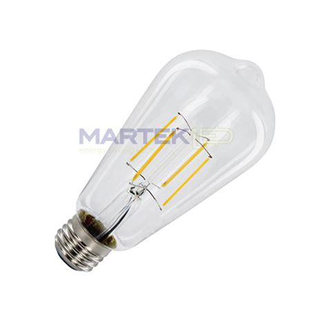 edison vintage led safety coated light bulb 6 watt