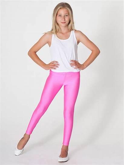 Spandex Leggings Shiny Pants Teen Young Apparel