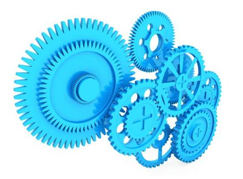 gears working  stock photo template