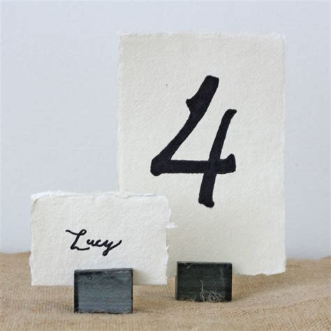 table number place cards four slate place card table number holders by the wedding