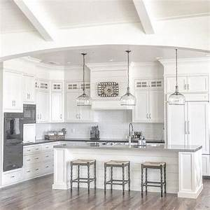25 best ideas about white farmhouse kitchens on pinterest With kitchen colors with white cabinets with add stickers to photos