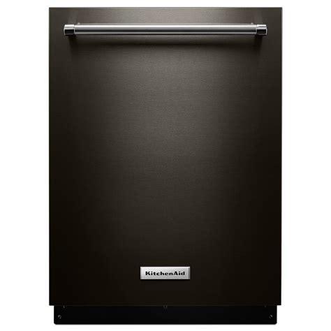 kitchen aid dishwashers kitchenaid top dishwasher in black stainless with