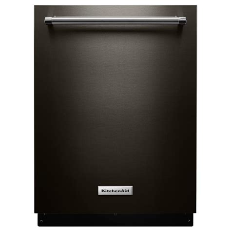 Kitchenaid Top Control Dishwasher In Black Stainless With