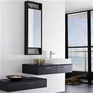 ensemble meubles suspendu salle de bain pose mural With salle de bain design avec meuble sous lavabo suspendu