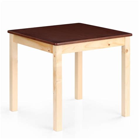 solid wood activity table ikayaa us stock cute wooden table kids table solid pine