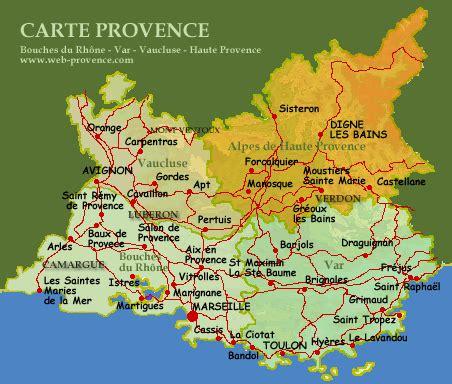 Carte Du Var Avec Toutes Les Villes by Carte Provence Cartes Avec Villes