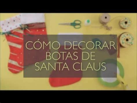como decorar botas de santa claus manualidades navidenas