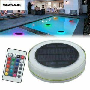 Color Changing Floating Pool Lights Pool Light Solar Led Swimming Pool Pond Outdoor Floating