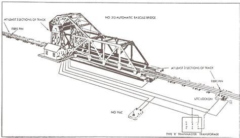 lionel postwar 313 bascule bridge o railroading line