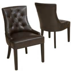 denise austin home erica tufted brown bonded leather