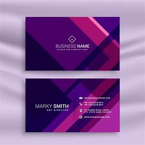 Creative purple business card in abstract style vector for Purple business cards
