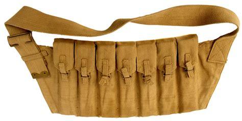 an original wwii seven pouched sten submachine gun magazine bandolier militaria