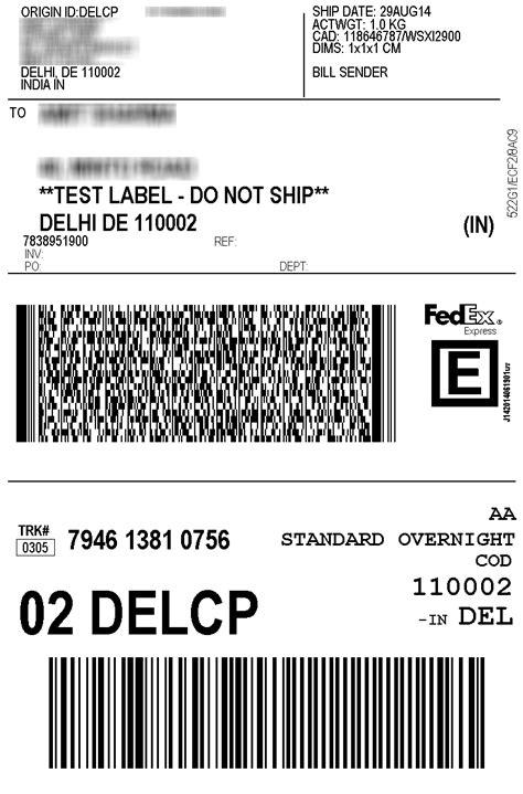 print fedex shipping labels  india woocommerce plugin