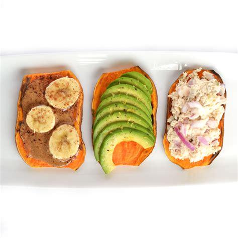 toast for one sweet potato toast 3 ways little bits of