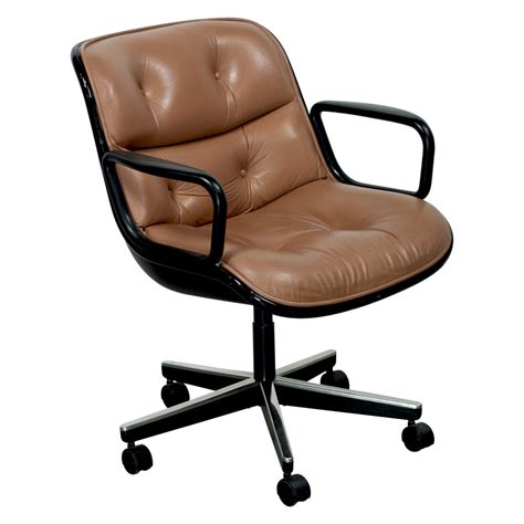 Knoll Pollock Chair Used by Knoll Pollock Executive Leather Used Chair Caramel