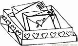 Coloring Letters Valentine Coloringpages101 Valentines sketch template
