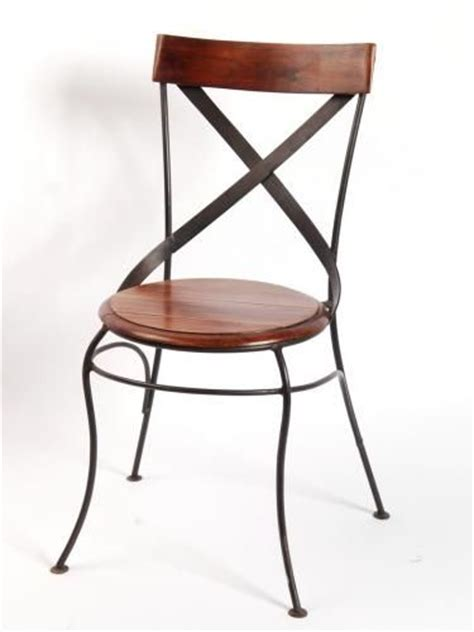 chaise bistrot en fer forge
