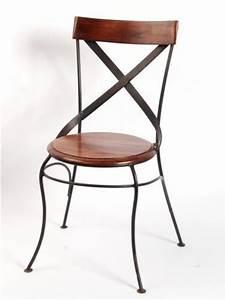 Chaise En Fer Forgé : chaise bistrot en fer forge ~ Dode.kayakingforconservation.com Idées de Décoration