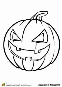 Dessin D Halloween Facile : coloriage d un dessin de citrouille qui ricane ~ Dallasstarsshop.com Idées de Décoration