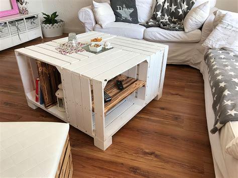 Weinkisten Tisch selber bauen  DIY ZENIDEEN