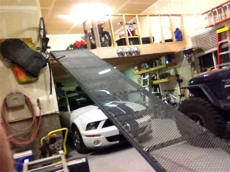 lift atv  loft google search diy garage shelves