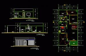 Housing For An Apartment One Level Dwg Elevation For