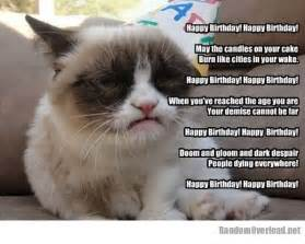 grumpy cat birthday birthday wishes from grumpy cat randomoverload