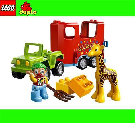 neu lego duplo  zirkustransporter zirkus lkw giraffe