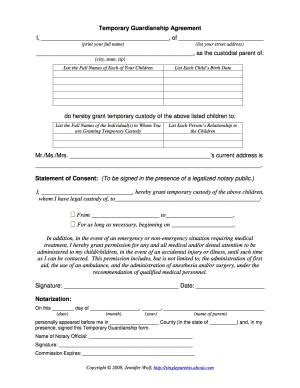 20842 temporary guardianship forms anyone can be named a temporary guardian for a child