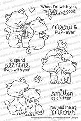Nook Stamps Newton Sweetheart Stamp Newtons Coloring Cat Cats Newtonsnookdesigns Valentine Colouring Crafts Cards Doodles Valentines Embroidery Clear Die Sets sketch template