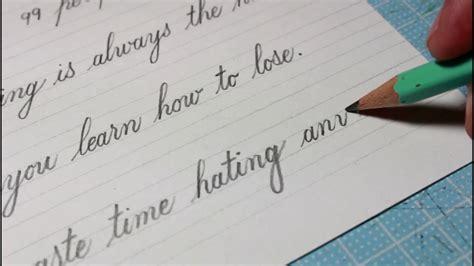 handwriting practice day  english cursive handwriting