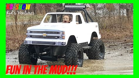 monster trucks on youtube videos 4 year old kid driving the mini monster truck fun outdoor