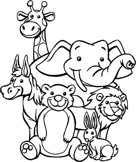 coloring pages  zoo animals  preschool zoo