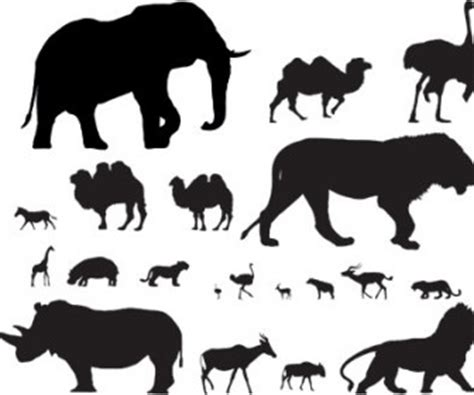 vector african animals ai svg eps vector