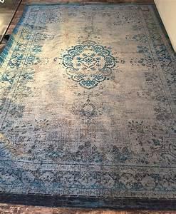 Vintage Teppich Grau : vintage teppich blau grau orientmuster ~ Indierocktalk.com Haus und Dekorationen