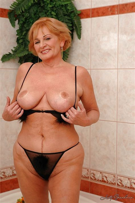 Horny Granny With Huge Boobs Plays With Her Cunt In The Shower Pornpics Com