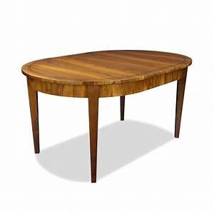 Esstisch Oval Ausziehbar : ausziehbarer ovaler esstisch aus nussbaum bei stilwohnen ~ Michelbontemps.com Haus und Dekorationen