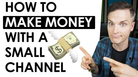 ways   money  youtube   small channel youtube