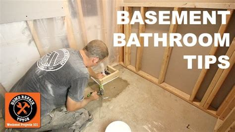 install  basement bathroom home repair tutor
