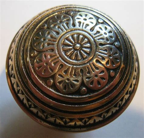 antique unmarked single solid brassbronze door knob ca