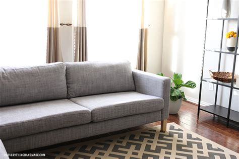 how to tuft button your ikea karlstad cushions