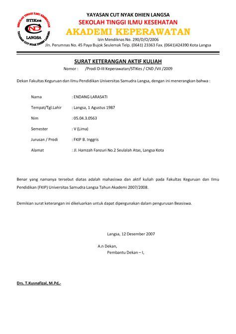 format surat ijin kerja perusahaan