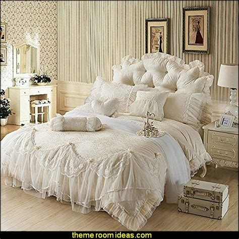 Victorian Princess Beige Wedding Bedding,luxury Jacquard