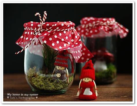 wichtel im glas basteln weihnachten huebsche weihnachtsdeko basteln weihnachten wichtel