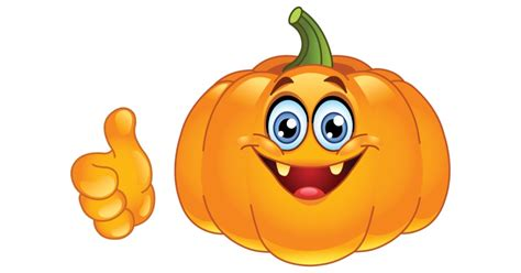 Pumpkin Faces To Carve by Smiling Pumpkin Showing Thumb Up