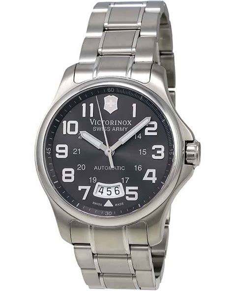 victorinox swiss army army officer grey automatic