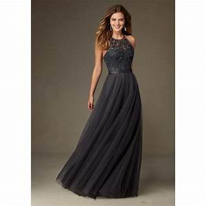 2017 charcoal gray bridesmaid dresses long halter With charcoal dresses for weddings