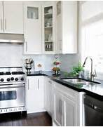 Kitchen Cabinets And Counters Black Countertops And White Cabinets Traditional Kitchen Style