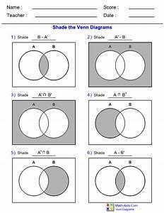 Venn Diagram Complement Of Two Sets Worksheet